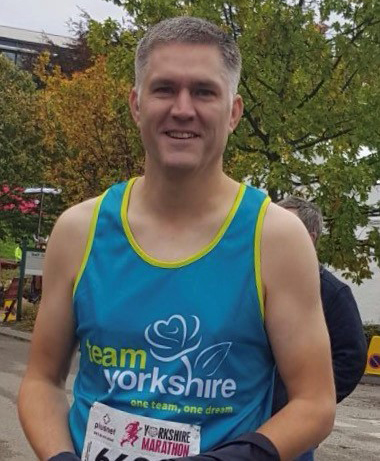 Michael at the Yorkshire Marathon